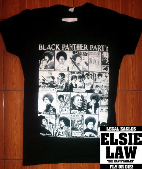 Black Panthers Ladies Tee W EL Logo